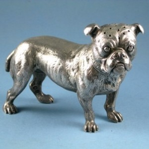 Late 19th century Bulldog pepperette